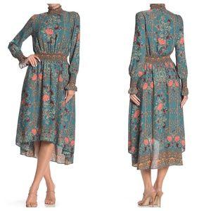 NWT Nanette Lepore Long Sleeve Mock Neck Dress